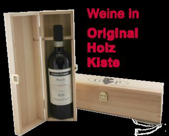 Wein in Original Holz Kiste