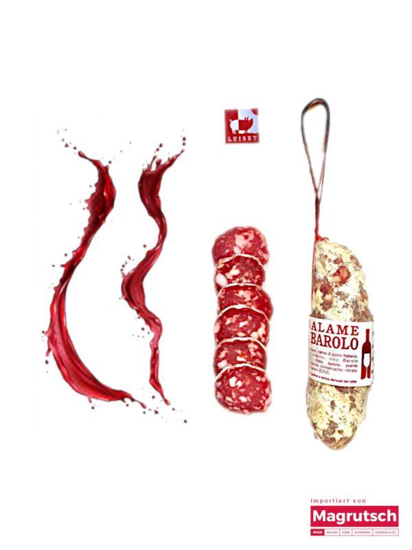 Salame al Barolo von der Salumerie Luiset aus dem Piemont