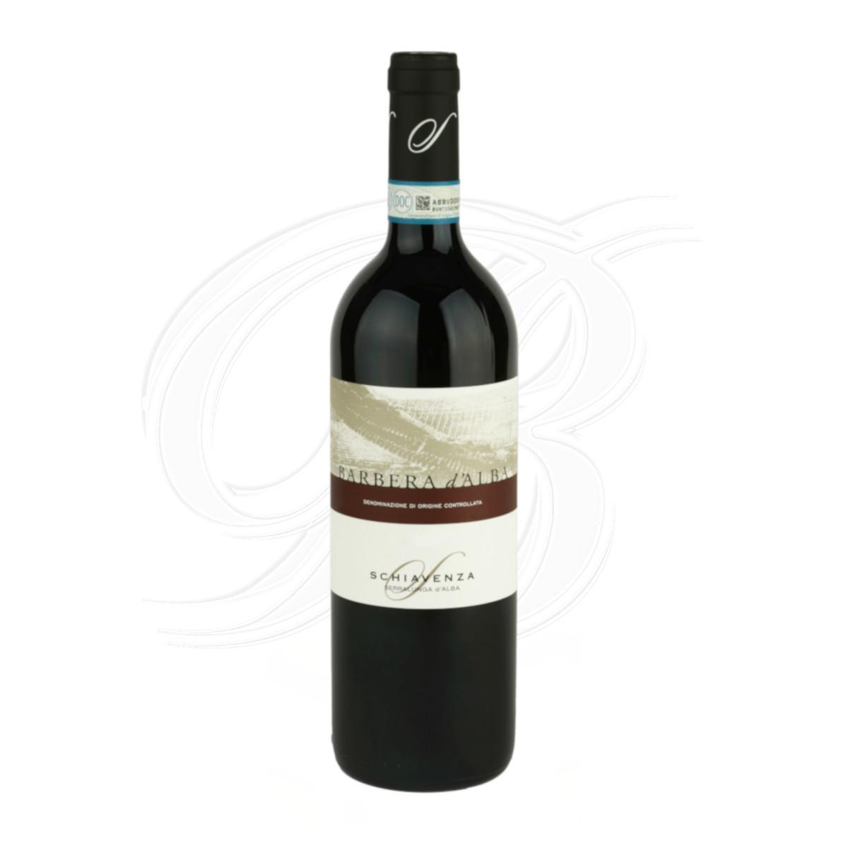 Barbera d'Alba vom Weingut Schiavenza in Serralunga d'Alba im Piemont